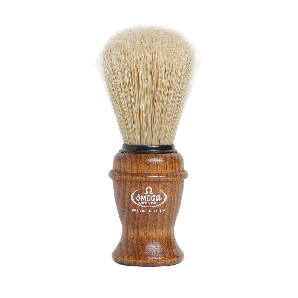 Omega Dark Wood Handle Brush