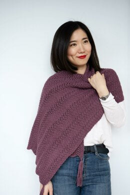Knit Wavy Chevron Lace Shawl Knitting pattern by Emma Wright-Independent Designer-superbulky