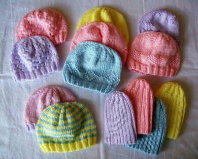 Preemie Hats for Charity Knitting pattern by Carissa Browning-Independent Designer-superbulky