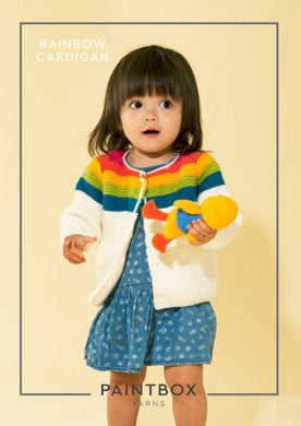 Rainbow Cardigan in Paintbox Yarns Simply Aran - Aran-Kid-002 - Downloadable PDF-Paintbox Yarns-superbulky