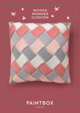 Woven Wonder Cushion in Paintbox Yarns Baby DK - Downloadable PDF-superbulky-superbulky