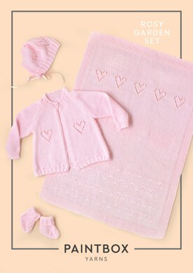 Rosy Garden Set in Paintbox Yarns Baby DK - Downloadable PDF-Paintbox Yarns-superbulky