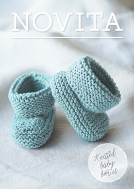 Knitted Baby Booties in Novita Baby Wool - 35 - Downloadable PDF Free-Novita-superbulky