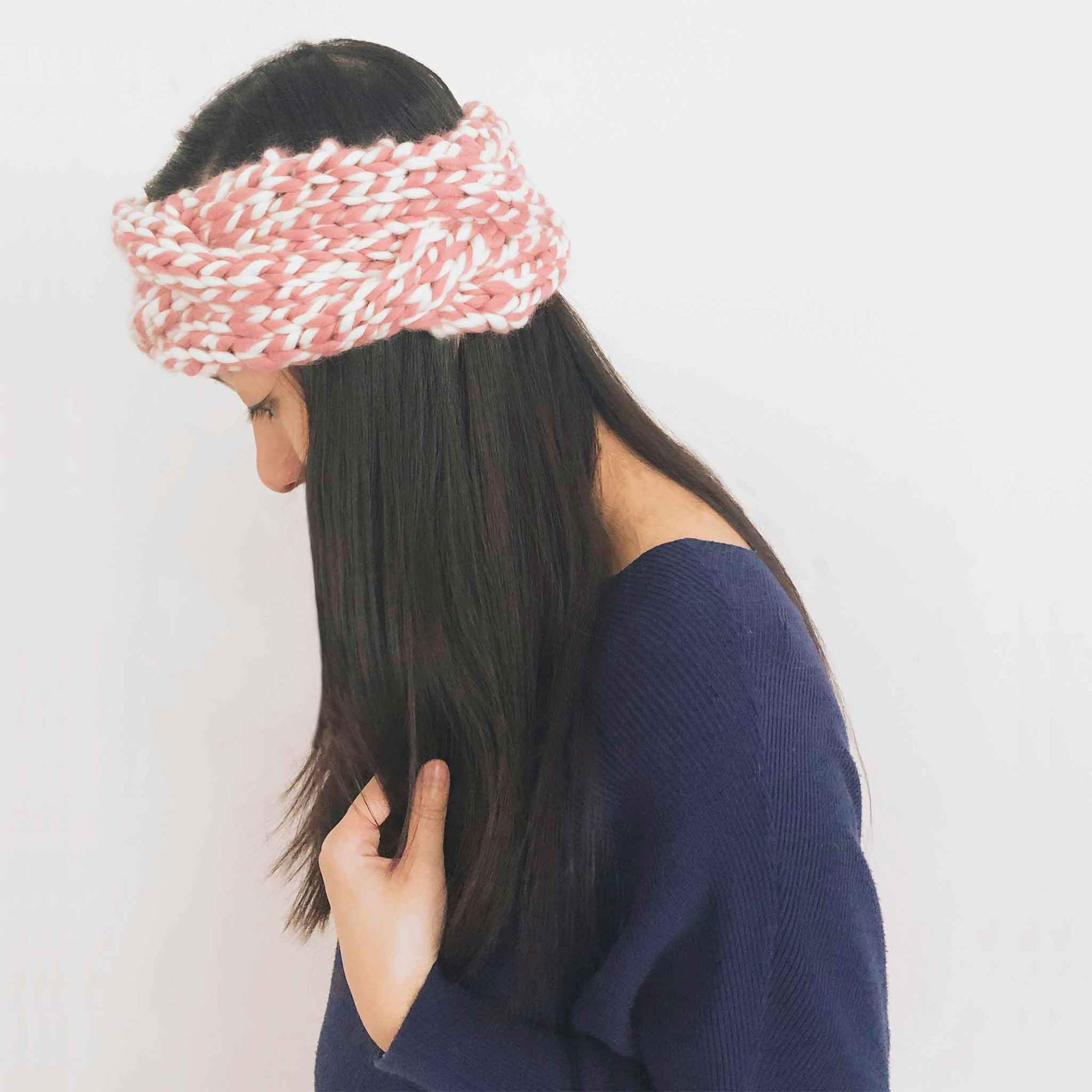 Chunky cable headband in twisted wool knitting kit-Beginner-superbulky