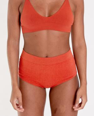 ENDIJA Organic Cotton High Waisted Knickers In Madder-beaumontorganic-superbulky