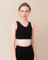 JO Bamboo Cropped Vest Top In Black-beaumontorganic-superbulky