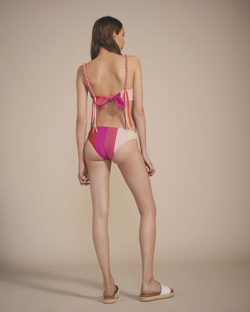 Paper London ethical swimwear - Zig Zag Bikini Bottom Rainbow-paperlondon-superbulky