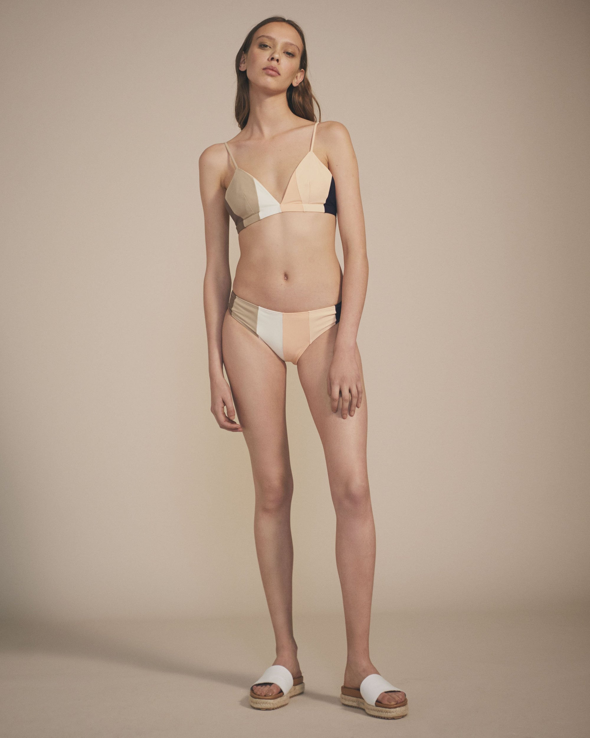 Paper London ethical swimwear - Zig Zag Bikini Top Tonal Stripe-paperlondon-superbulky
