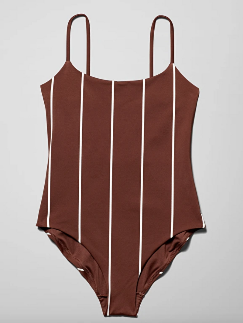 Sun Striped Swimsuit - Orange - Swimwear - Weekday GB-weekday-superbulky