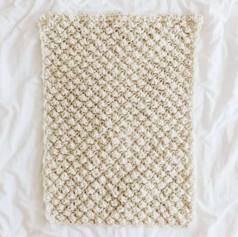 Raspberry Dream Baby Blanket Pattern & Kit-Darn Good Yarn-superbulky