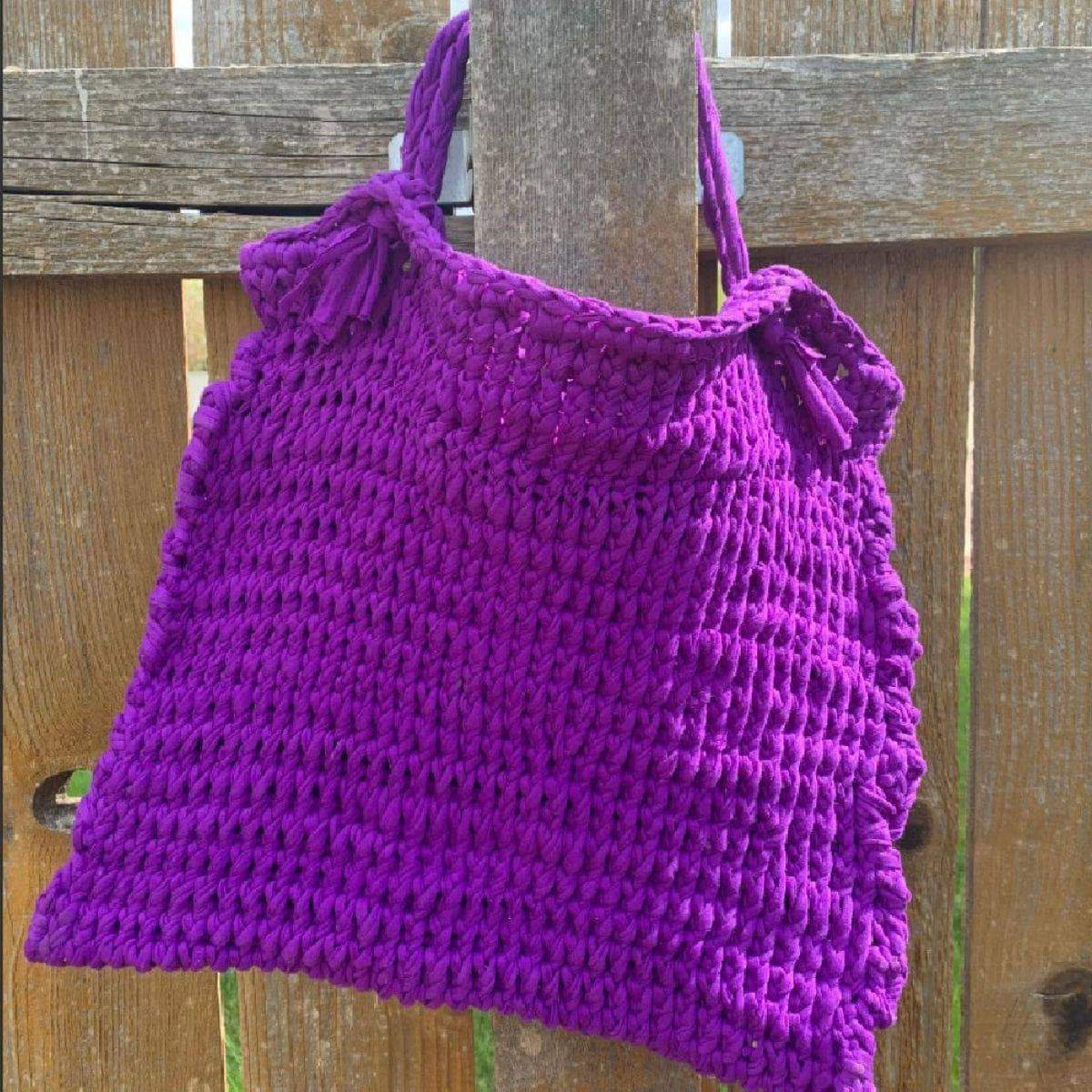 Beginner Friendly Knitted T-Shirt Bag Kit-Darn Good Yarn-superbulky