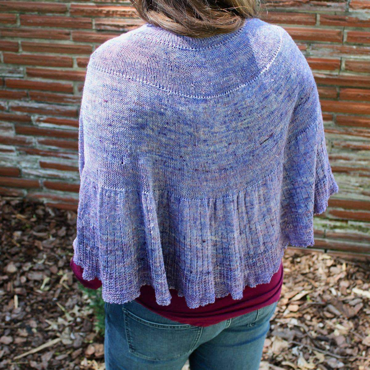 Calico Scallop Shawl Knitting Kit-Darn Good Yarn-superbulky