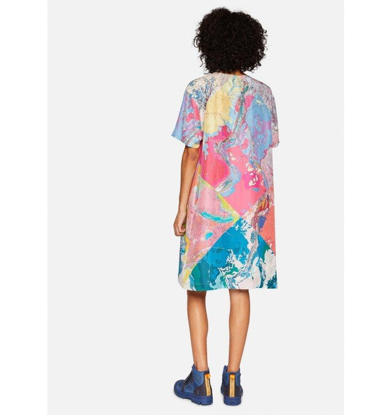 Silk Multi Weather Map Dress-Raeburn Design-superbulky