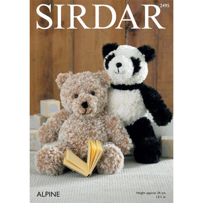 Sirdar 2495 Panda and Teddy Bear PDF