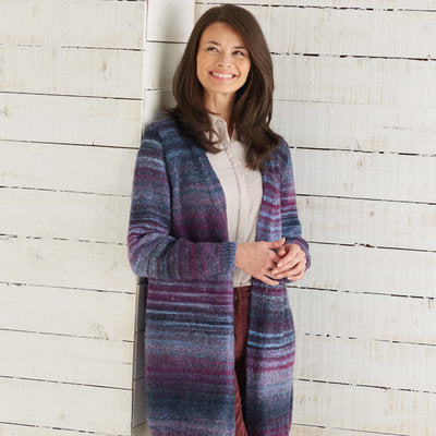 Sirdar 10029 Long Cardigan in Jewelspun PDF