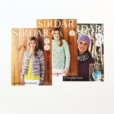 Sirdar Free Pattern 3 Pack - Tundra Super Chunky