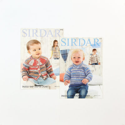 Sirdar Free Pattern 2 Pack - Snuggly Baby Crofter Chunky