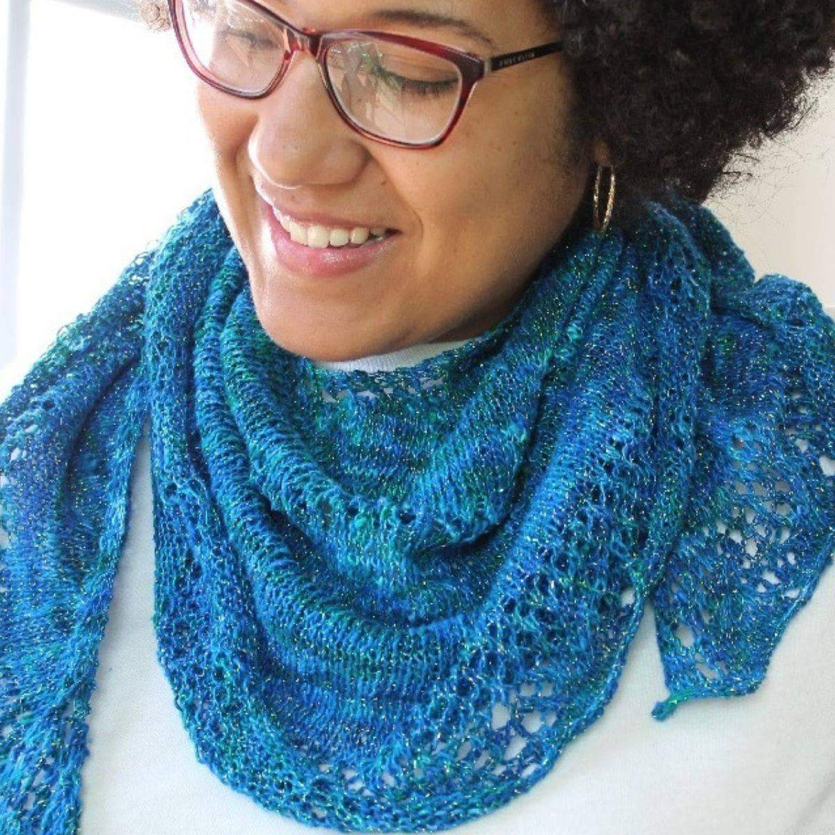 Enchantress Shawl Knitting Kit-Darn Good Yarn-superbulky