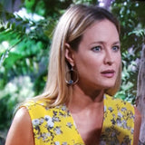 Sharon Case wears Kim Jakum Jewelry kyanite earrings on The Young and The Restless.