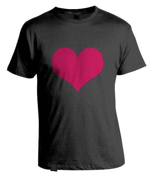 Love Heart T-Shirt Black