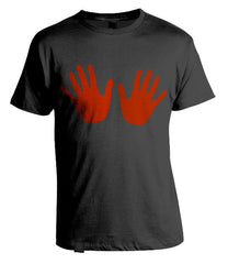 Red Hands T-Shirt Black