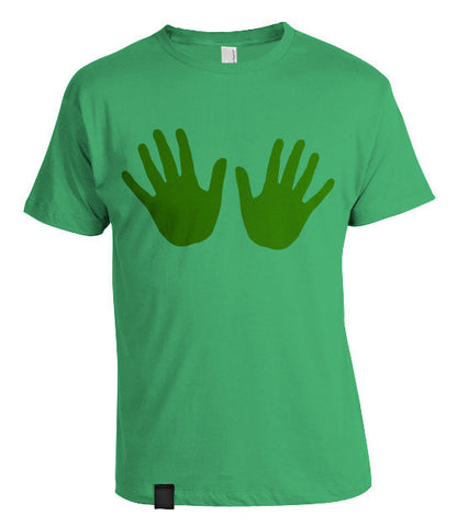 Red Hands T-Shirt Green