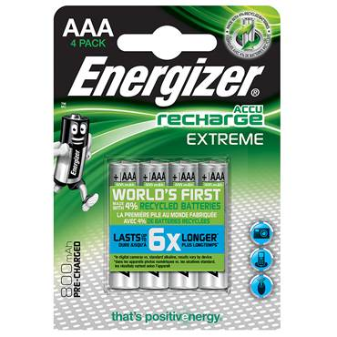 Energizer Recharge AAA 1 pack 4 st Batteri