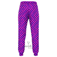 Load image into Gallery viewer, Royal Purple Mermaid Scale Premium Joggers
