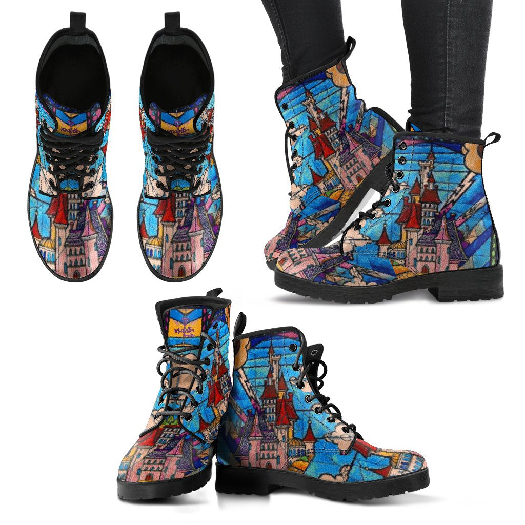 Beast's Castle Stained Glass Women's Boots