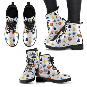 White Beauty and the Beast Women's Boots