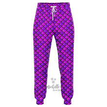 Load image into Gallery viewer, Royal Purple Mermaid Scale Athletic Joggers