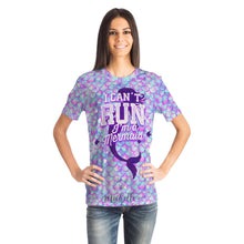 Load image into Gallery viewer, I Can't Run - I'm a Mermaid Designer Tee Shirt (All-Over-Print)