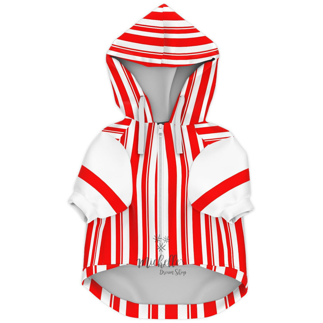Dapper Dan Premium Red Zip Up Dog Hoodie