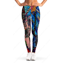 Load image into Gallery viewer, Beast's Castle Stained Glass Leggings