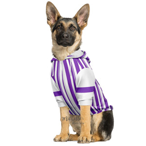 Dapper Dan Premium Purple Zip Up Dog Hoodie