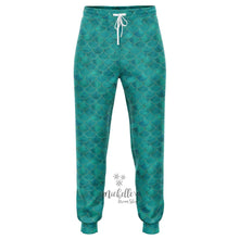 Load image into Gallery viewer, Royal Green Mermaid Scale Premium Joggers
