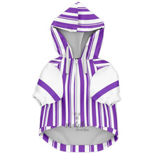 Load image into Gallery viewer, Dapper Dan Premium Purple Zip Up Dog Hoodie