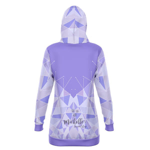 Purple Wall Premium Long Hoodie