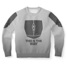 Load image into Gallery viewer, Mandalorian Weapons Are My Religion Silver Athletic Sweatshirt
