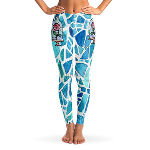 Beauty's Rose Stained Glass Leggings