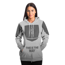 Load image into Gallery viewer, Mandalorian Weapons Are My Religion Silver Athletic Hoodie