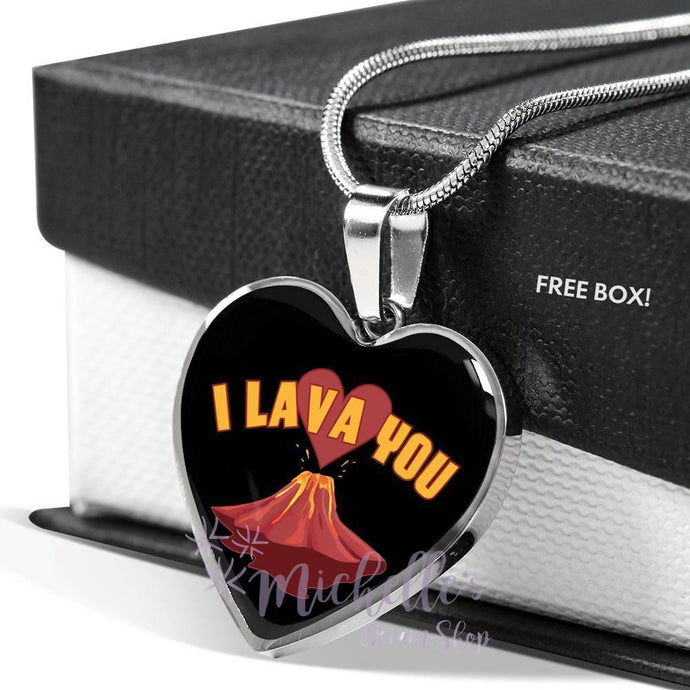 I Lava You Heart Necklace