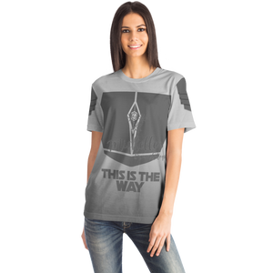 Mandalorian Weapons Are My Religion Silver Designer Tee Shirt (All-Over-Print)
