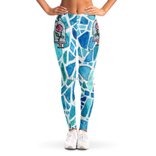 Load image into Gallery viewer, Beauty's Rose Stained Glass Leggings
