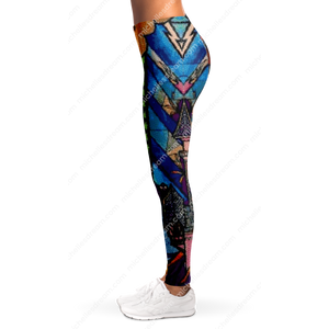 Beast's Castle Stained Glass Leggings