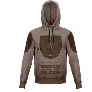 Mandalorian Weapons Are My Religion Brown Athletic Hoodie