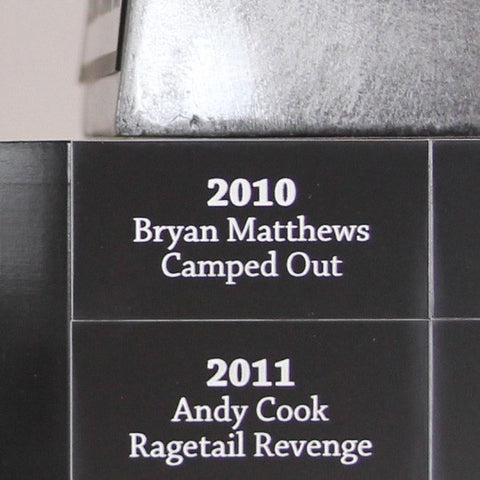 Trophies - Laser Engraved Champion Plaques