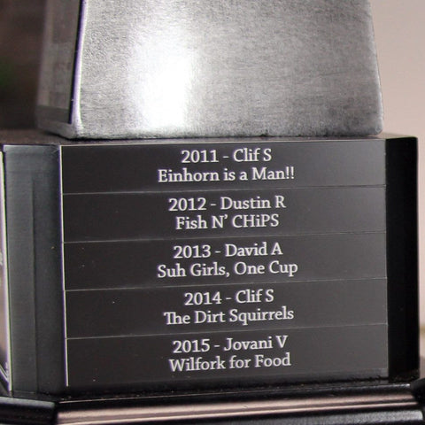 "Trophies - Laser Engraved Plaque (9"" Lombardi)"