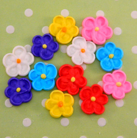 Royal Icing Drop Flower Assortment