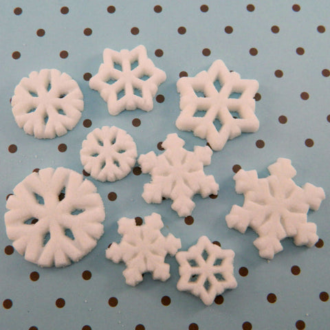Edible Snowflake Sugar Pieces